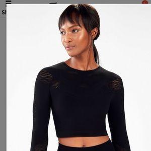Fabletics Sarah SculptKnit® Long Sleeve Top NWT